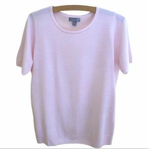 Sears short sleeve sweater. Pale pink